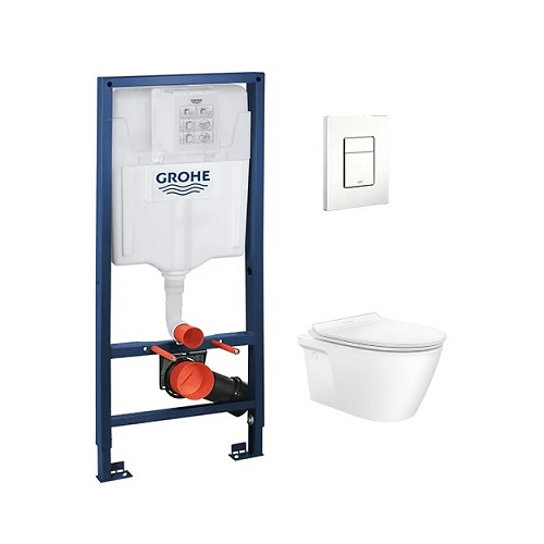 American Standard Acacia SupaSleek CL31197 Wall hung WC with RApid SL and Flush Plate bundle promotion