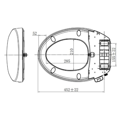 American Standard Slim Smart Washer I CL6001E-6D Specification 2