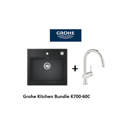 Grohe Composite Kitchen Sink K700-60C with Minta C-spout Mixer