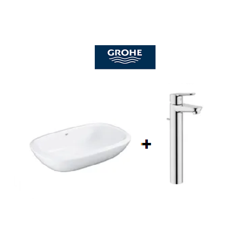 Grohe Eurostyle Vessel Basin 50 bundles with BauEdge Basin Mixer