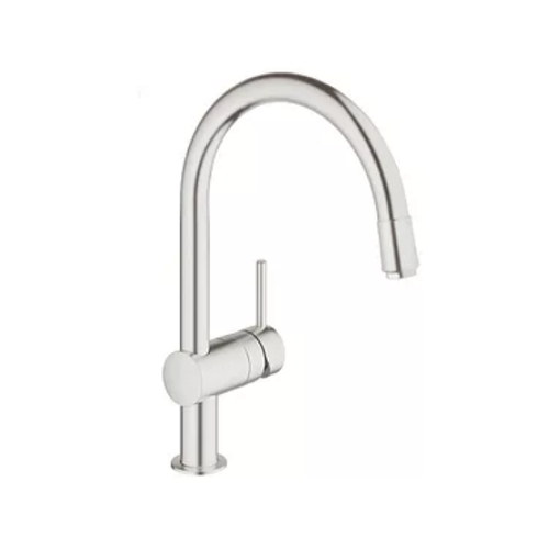 Grohe Minta SuperSteel 32918DC0 C-spout Kitchen Sink Mixer