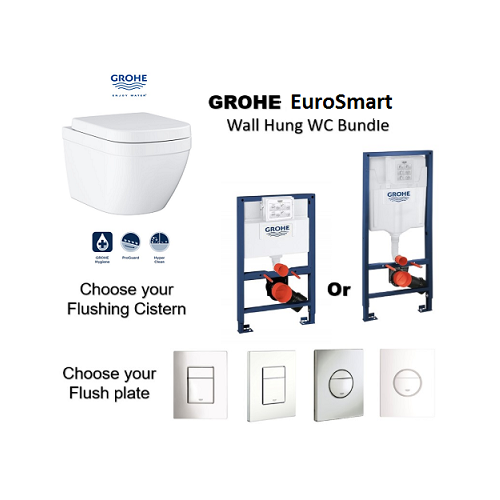Grohe Eurosmart Wall Hung WC bundle deal