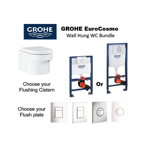 Grohe Eurocosmo Wall Hung WC Bundle deal