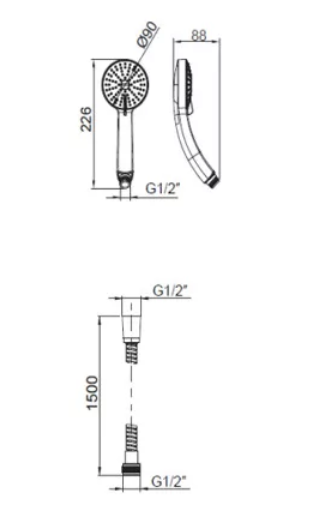 Kohler K-99742T-C9E2-CP July Bath-Shower Column Specification 3