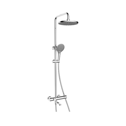 Rubine Round Thermostatic Shower Column-RSC-THERMO-R31CH