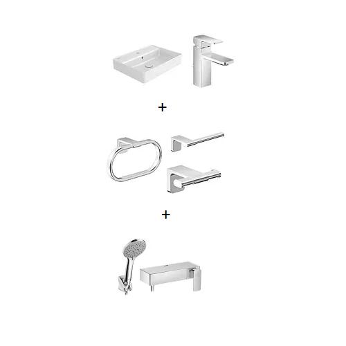 Acacia Bathroom Essentials Bundle set 1