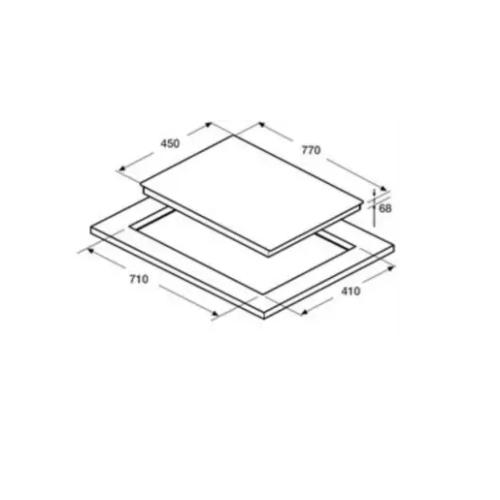 Hafele 77cm Hybrid Hob HC-M773A Specification