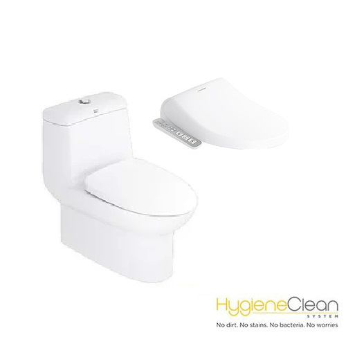 Milano CL20415 One-piece Toilet with Pristine E-Bidet