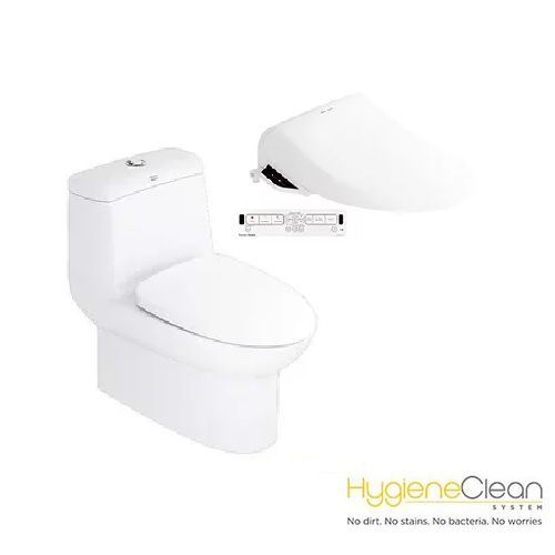 Milano CL20415 One-piece Toilet with Pristine Star E-Bidet