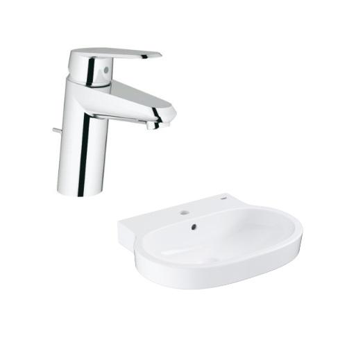 Eurocosmo Counter top basin 60 with Basin Mixer 3319020E
