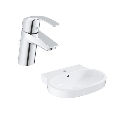 Eurocosmo Counter top basin 60 with Basin Mixer 33265002