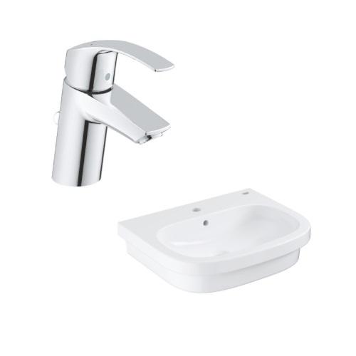Eurosmart Counter top basin 60 bundle with Basin Mixer 33265002