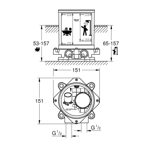 Grohe Rough IN Set 45984001 Specification DRW