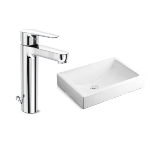 Kohler Ladena Vessel Basin with July Tall Mixer