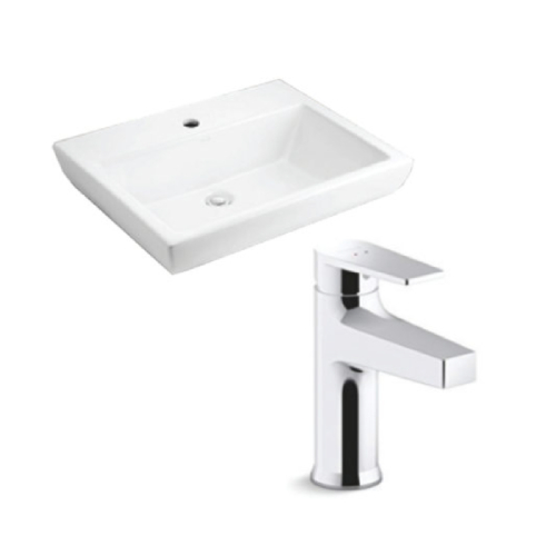Kohler Parliament Lavatory with Taut Basin Mixer Bundle