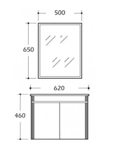 Zaffiro Basin Cabinet 8246B-60 Specification