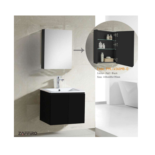 Zaffiro basin with cabinet mirror PHT-8161MB-54-MC