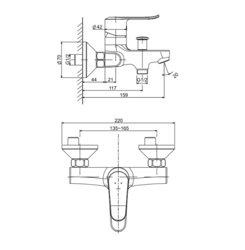 American Standard Neo Modern FFAS0711-602500BF0 Specification DRW