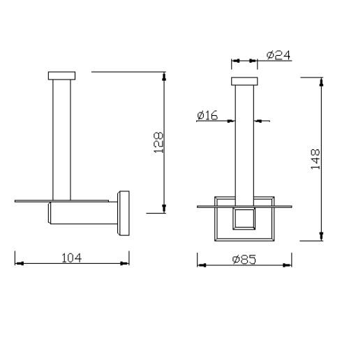 American standard Concept Square FFAS0488-908500BC0 Vertical Paper Holder DRW