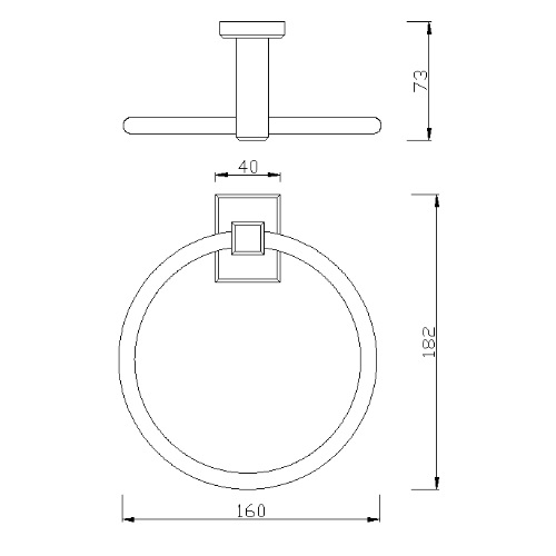 American standard Concept Square FFAS0490-908500BC0 Towel Ring Specification DRW