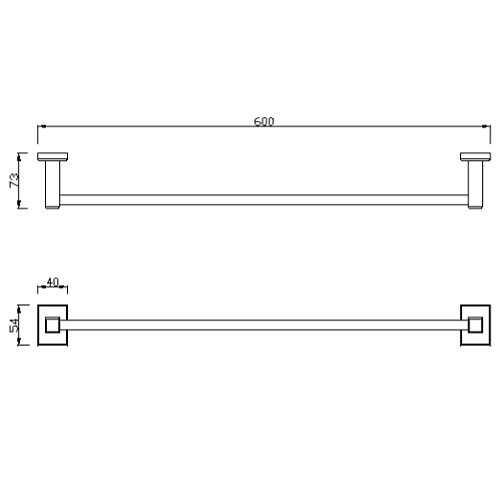 American Standard Concept Square FFAS0493-908500BC0 Towel Bar Specification DRW