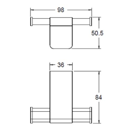 American standard Acacia FFAS1381-908500BC0 Robe Hook Specification DRW