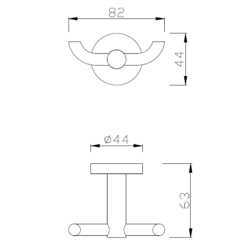 American standard Concept Round FFAS1481-908500BC0 Robe Hook Specification DRW