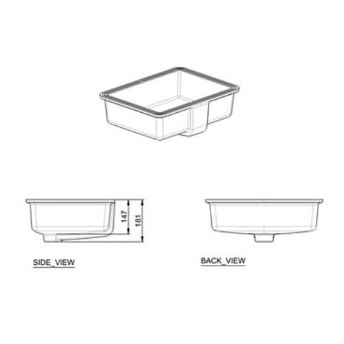 Flexio Thin CCASF513-1000410F0 Under Counter basin DRW 3