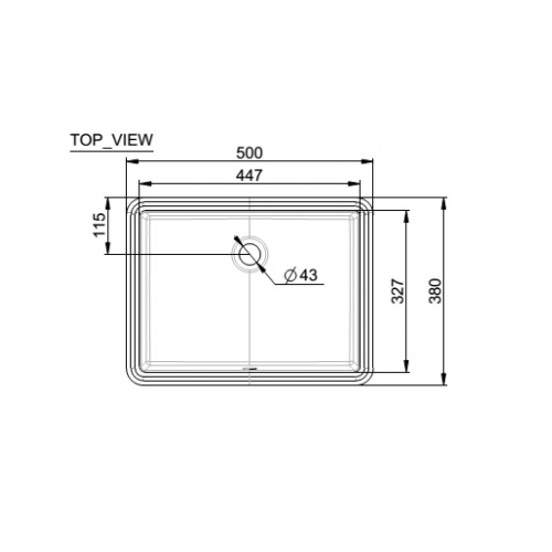 Flexio Thin CCASF514-1000410F0 Under Counter basin DRW 1