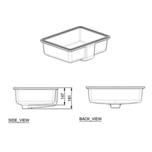Flexio Thin CCASF514-1000410F0 Under Counter basin DRW 3