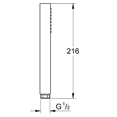 Grohe 27698000 Euphoria Cube Stick Hand Shower DRW