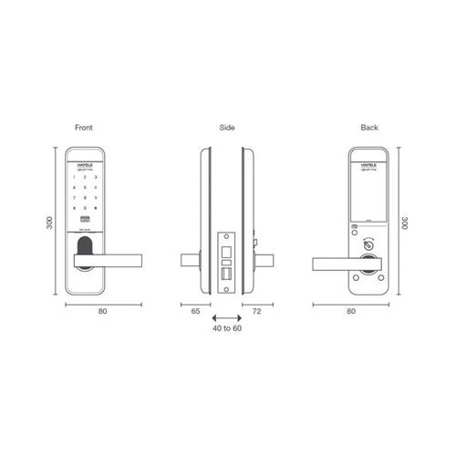 Hafele EL8500 digital door lock drw