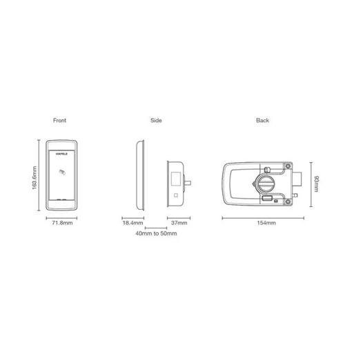 Hafele ER4800 digital door lock drw