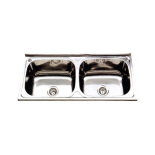Monic-L-1000 Wall mount Double Bowl Kitchen sink