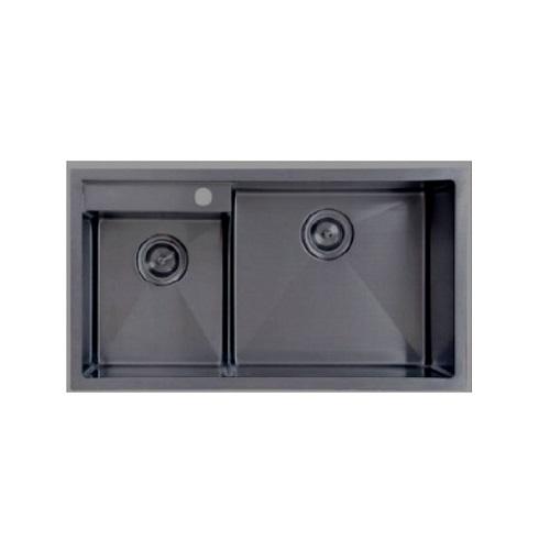 Monic MBX-750 Black Double Bowl kitchen sink
