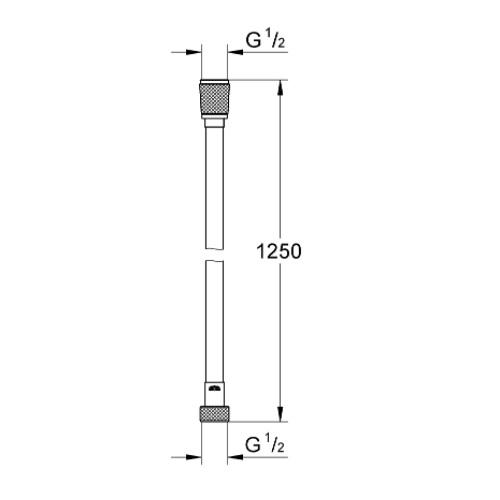 Silverflex 28362000 Shower Hose Twistfree 1250 Specification DRW