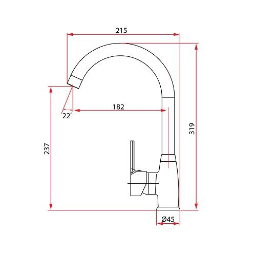 UNICO 5643 Sink Mixer Specification DRW