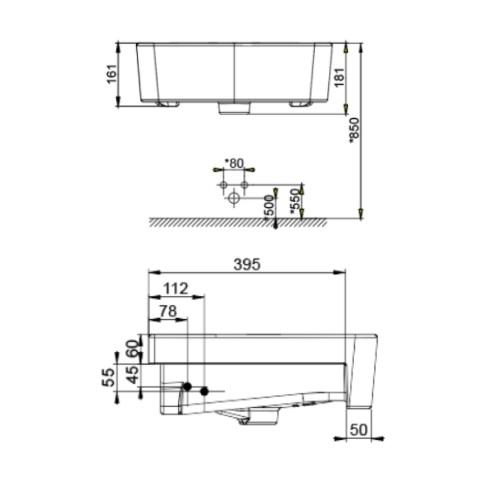 Acacia Evolution CCASF519-1010411F0 Semi-Countertop Basin DRW 2