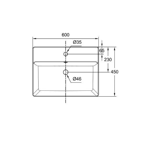 Acacia-Supasleek CCASF421-1010411F0 wall hung basin DRW 1