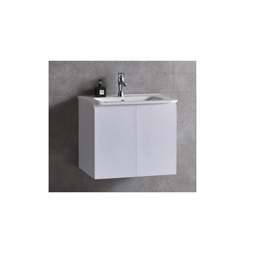 Baron B84 Pearl white basin with cabinet