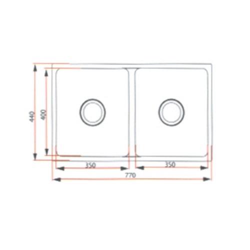 Rubine FEX 820-77U Kitchen sink-DRW 1