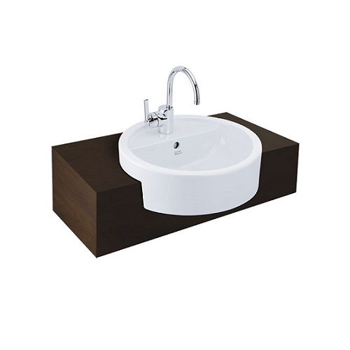 White CCASF307-1010410F0 Semi Counter top basin