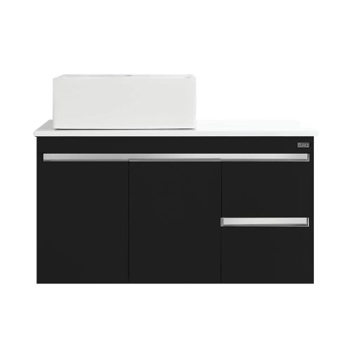 Rubine RBF-1495D4 BK Basin Cabinet pearl Black