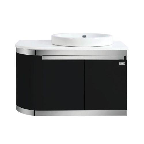 Rubine RBF-1685D2 BK Basin Cabinet Black