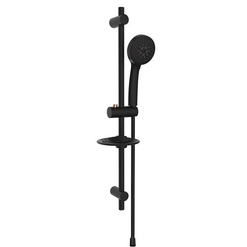 Rubine FONTANA-107-BK shower set Black