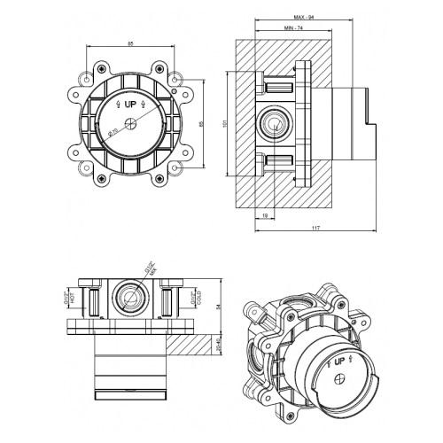 Gessi-GES-38312-AAA-Built-in part for shower mixer DRW
