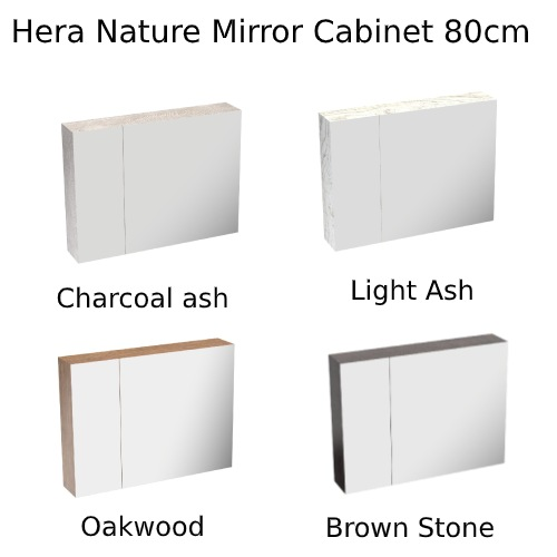 Hera-Nature-Mirror-Cabinet HERA8060MC 80cm