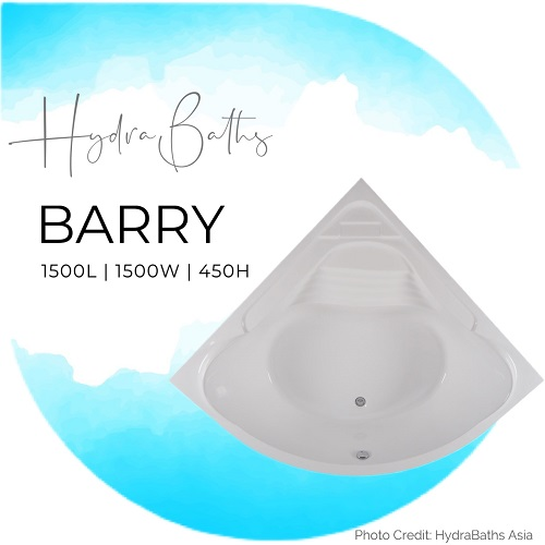 Hydrabath Barry corner bathtub