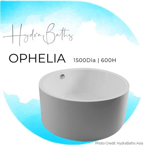 Hydrabath OPHELIA Acrylic Round Bathtub