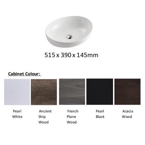 Baron A108 solid top basin cabinet colors
